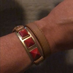 Henri Bendel Leather Wrap Braclet